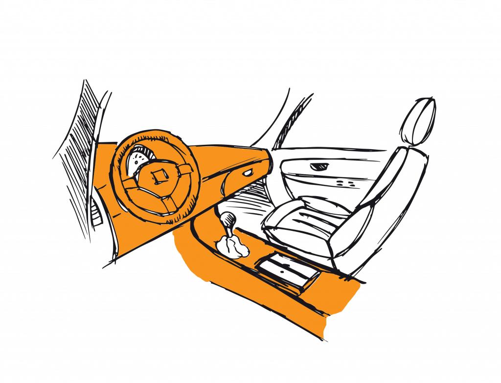 Coting dessin voiture intérieur
