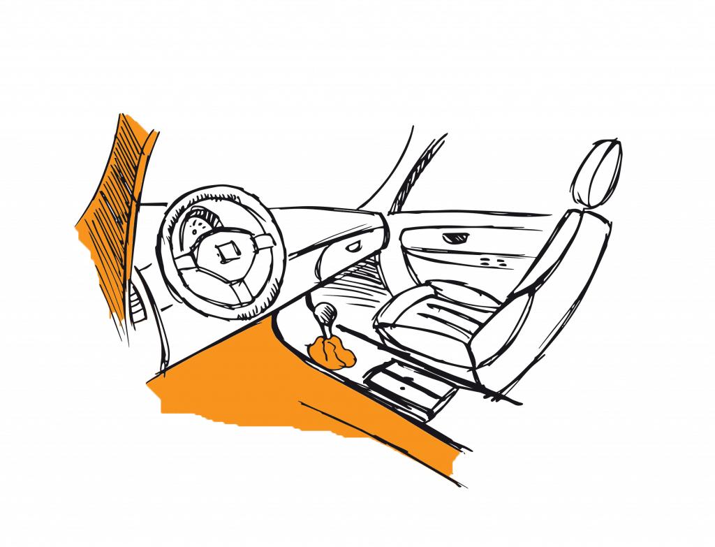 Cotting dessin voiture interieur