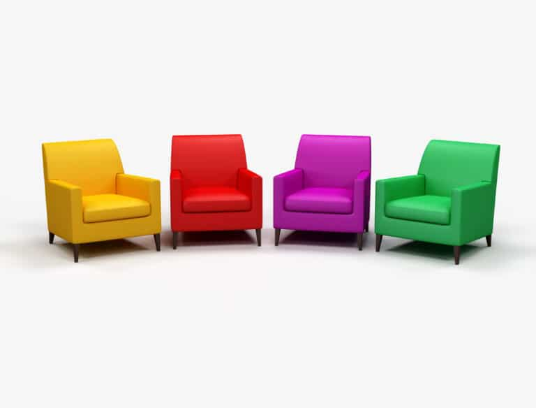 Colored armchairs digital artwork
